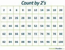 Counting By 2 S Chart Printable Count By 2 Practice Chart