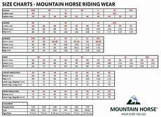 Mountain Horse Boots Size Chart Mountain Horse Laurel Event Jacket