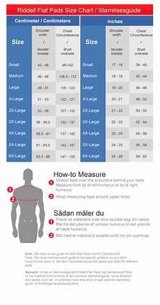 Riddell Sizing Charts Shoulder Pads Riddell Kombine Sk