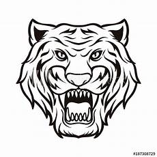 quot tiger silhouette black and white animal logo vector icon