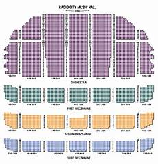 Radio City Theater Seating Chart Radio City Music Hall Seating Chart Amp Seat Views Tickpick