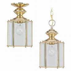 Brass Hanging Light Fixture Sea Gull Lighting Classico 1 Light Polished Brass Outdoor