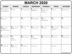 Page A Day Calendar 2020 Collection Of March 2020 Calendars With Holidays