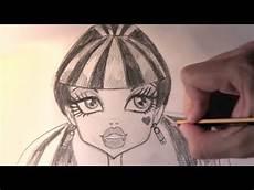 desenho de pessoas como desenhar a draculaura de high passo a passo