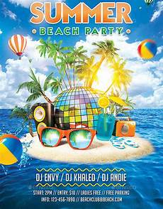 Beach Party Flyer Template Free 12 Summer Party Flyers Psd Ai Vector Eps Free