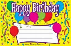 Free Printable Birthday Certificates Happy Birthday Awards Tcr1931 Teacher Created Resources