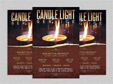 Christmas Lights Flyer Template Candle Light Service Flyer Template Flyer Templates