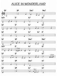 Alice In Wonderland Jazz Chart Partition Beautiful Love Piano Guitare Sheet Music In