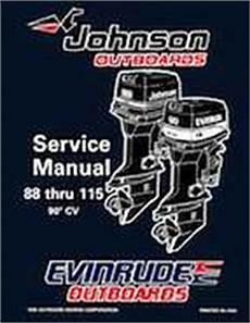 1996 Johnson Evinrude Quot Ed Quot 90 Cv 88 Thru 115 Service