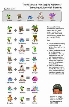My Singing Monsters How To Breed My Singing Monsters Guide My Singing Monsters
