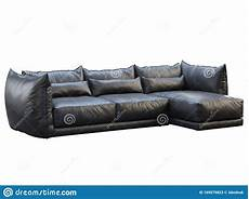 Sofa Cover 3 Seater Leather 3d Image by Modern Black Three Seat Corner Leather Sofa 3d Render