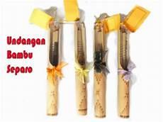 undangan bambu gulung separo souvenir nikah murah