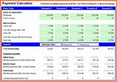 Excel Home Loan Calculator 6 Mortgage Calculator Excel Spreadsheet Template Budget