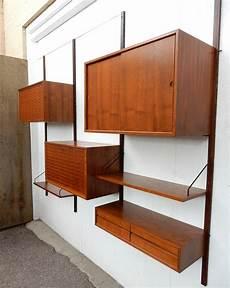 mid century modern poul cadovius cado wall unit cabinet