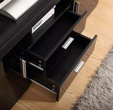 high gloss tv unit cabinet 2 drawer 2 door black
