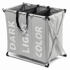 clothes 3 section 3 section laundry sorter her clothes storage basket bin