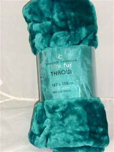turquoise mink faux fur blanket fleece throw 127x152cm ebay