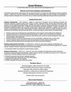 Database Management Resume Database Administrator Resume