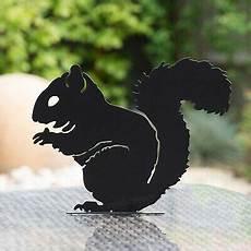 black metal squirrel silhouette stake decorative garden
