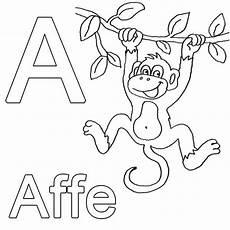 Abc Malvorlagen Ausmalbild Buchstaben Lernen Kostenlose Malvorlage A Wie
