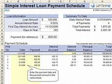 Simple Interest Car Loan Amortization Schedule Free Simple Interest Loan Calculator For Mortgage And