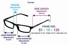 Eyeglasses Measurements Chart Eyeglasses Measurements How To Determine The Right Size