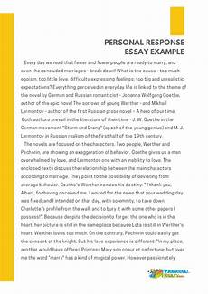 Response To Literature Essay Example Personal Response Essay Examples Essay Writing Top