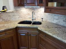 groutless backsplash how to minimize the grouts homesfeed - Tile Backsplash For Kitchens With Granite Countertops