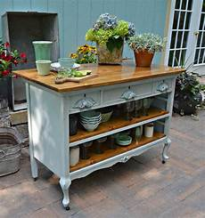 reclaimed kitchen island heir and space antique dresser turned kitchen island