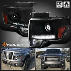 2014 Ford F150 Hid Fog Lights Black 2009 2014 Ford F150 Projector Headlights W Led