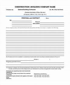 Free Construction Proposal Template Pdf 9 Free Construction Project Proposal Templates Pdf