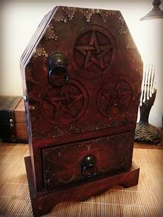 pentacle herb cupboard with drawer by barefootwitchery on