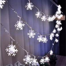 Outdoor Snowflake Christmas Lights String 10m 50 Led Snowflake String Fairy Lights For New Year