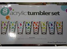 Costco Sale: 8 Piece Polka Dot Acrylic Tumbler Set $11.99