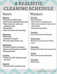 Cleaning Chart Checklist A Realistic Cleaning Schedule You Can Stick With The