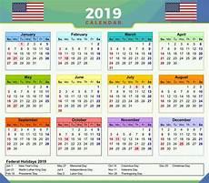 Us Calendars 2019 Calendar Usa Federal Holidays Fridge Magnet Ebay