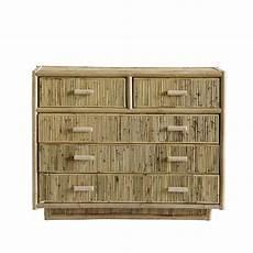 cabinet w 5 drawers rattan 40x100xh78 cm nat