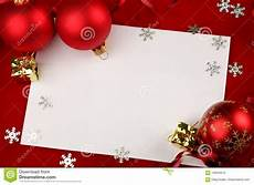 Blank Christmas Blank Christmas Stationery Or Cards With Ornaments Stock