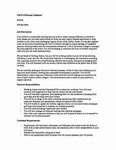 Job Description For A Shop Assistant Executive Personal Assistant Job Description September