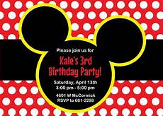 Mickey Mouse Birthday Invites Mickey Mouse Birthday Party Invitations Announce It