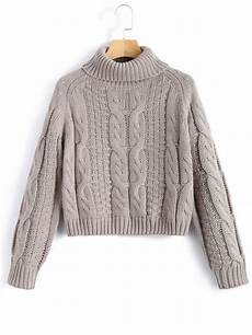 stricken pullunder popular 2018 turtleneck cropped cable knit sweater in