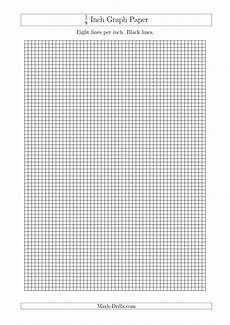 1 Inch Grid Paper Pdf 1 8 Inch Graph Paper With Black Lines A4 Size