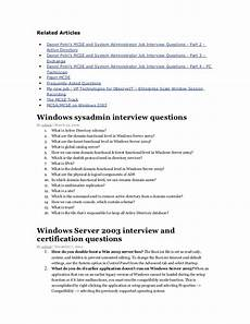 Sysadmin Interview Questions Technical Interview Questions Networking
