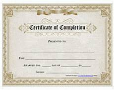 Blank Certificate Of Completion Template 37 Free Certificate Of Completion Templates In Word Excel Pdf
