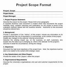 Project Scope Template Word Free 7 Sample Project Scope Templates In Pdf Ms Word