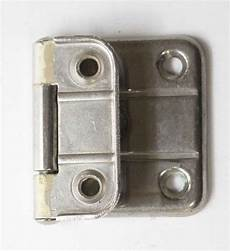 vintage nickel plated surface cabinet hinge olde things