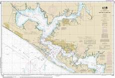 Noaa Coastal Charts Noaa Chart Intracoastal Waterway East Bay To West Bay