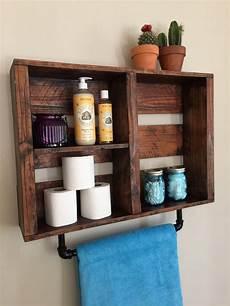shelves in bathroom ideas rustic bathroom decor bathroom shelf w pipe by standardwoodco