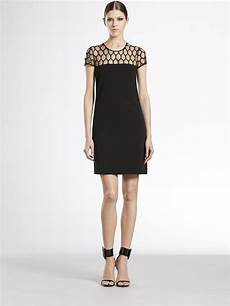 lyst gucci tulle damier dress in black