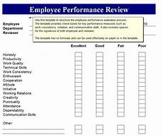 Employee Review Form Employee Performance Review Employee Perormance Review Form